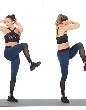 Knee to Elbow for Belly Fat and Side Fat