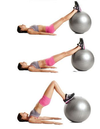 Swiss Ball Leg Curls