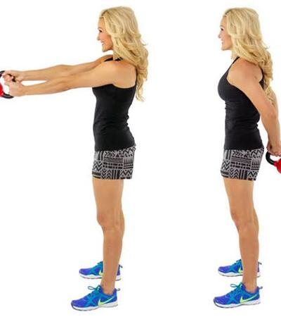 Around The World Exercise with Kettlebell for Weight Loss and Flat Belly