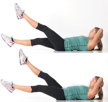 Flutter Kicks -11 Easy Ab Exercises to Tone Stomach in 2 Weeks at Home