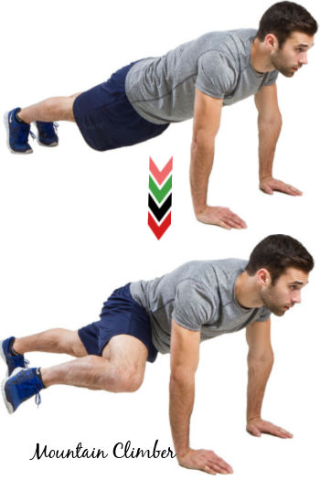 Mountain Climber - 11 Easy Ab Exercises to Tone Stomach in 2 Weeks at Home