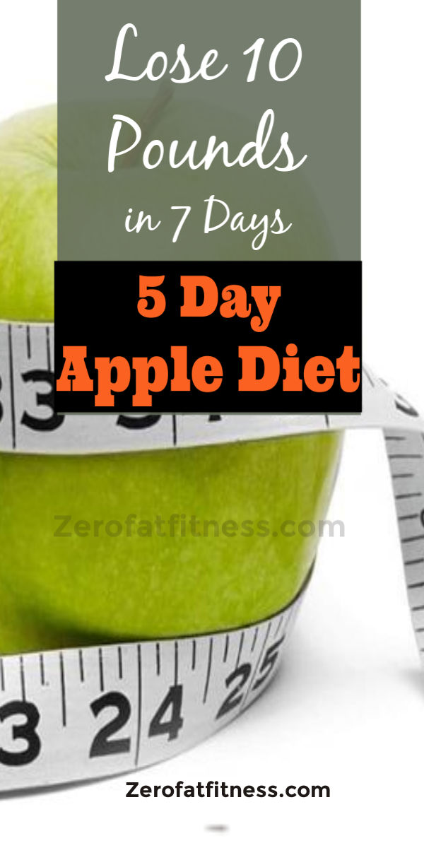 Easy 5 Day Apple Diet Plan to Lose 10 Pounds in 7 Days at Home