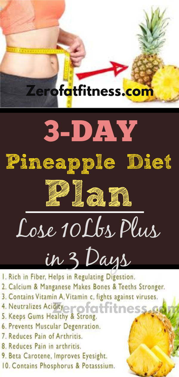 3-Day Pineapple Diet Plan: How to Lose Weight and Belly Fat in 3 Days