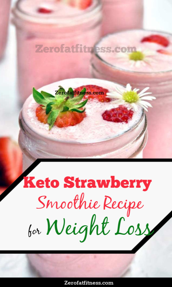 Keto Strawberry Smoothie Recipe for Weight Loss