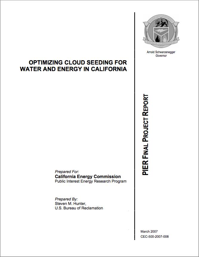 Optimizing Cloud Seeding - CALIFORNIA