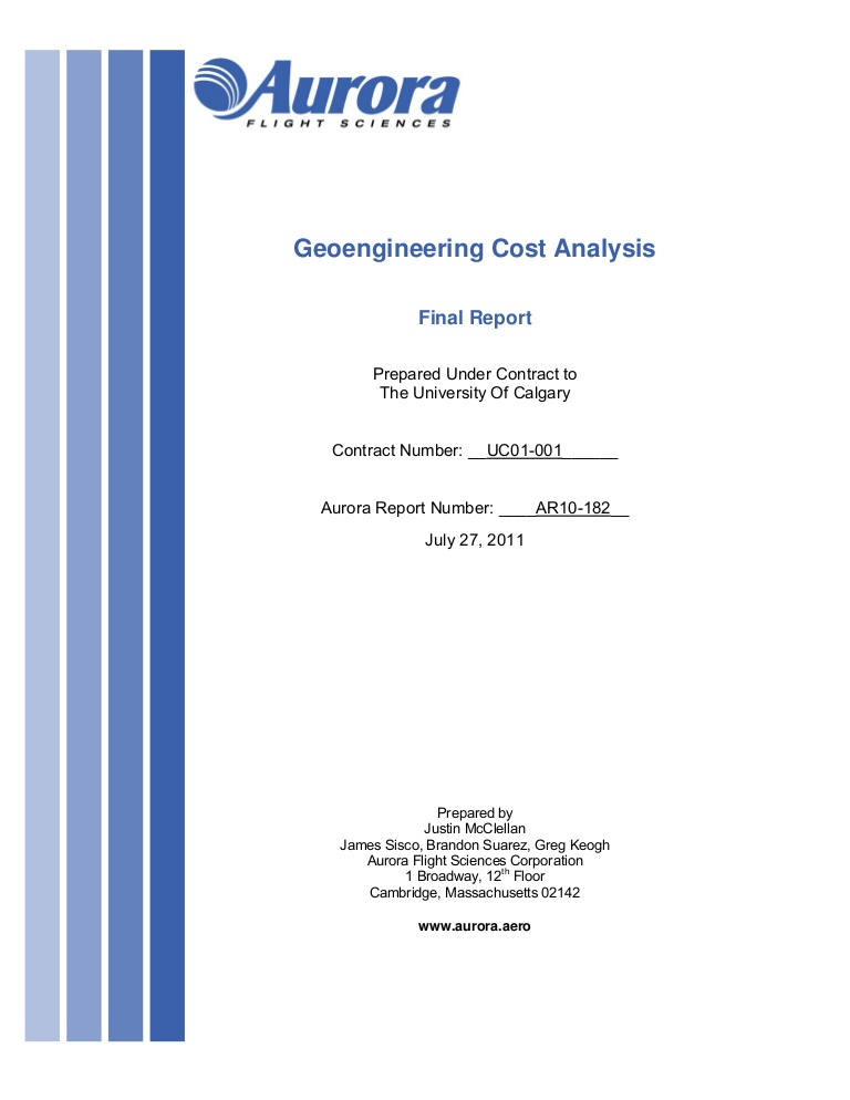 Geoengineering Cost Analysis