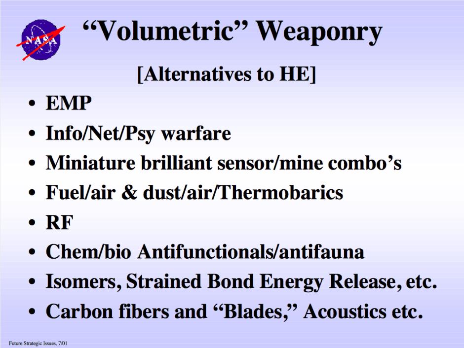 NASA - Volumetric Weaponry • Zero Geoengineering