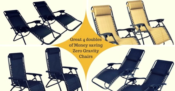 4 great zero gravity chair set of two