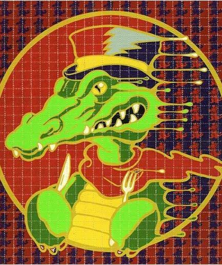 "Richard Biffle ""Alligator"" Blotter Art"