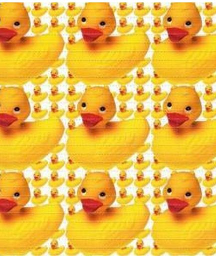 Rubber Ducky Blotter Art