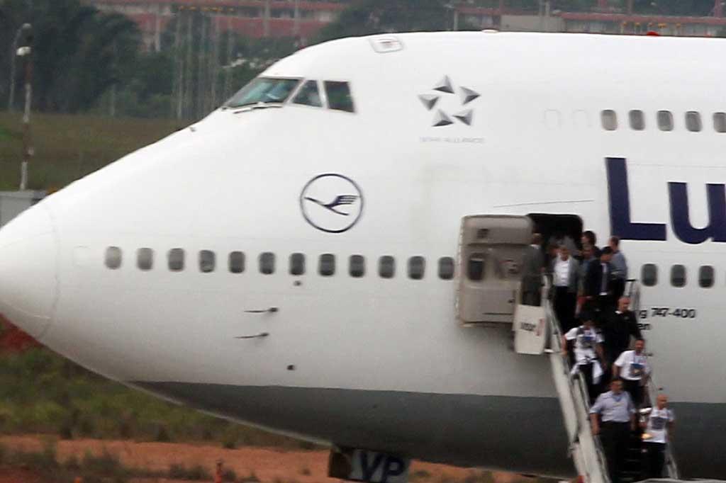 Com o título mundial na bagagem, Corinthians desembarca em São Paulo WERTHER SANTANA/ESTADÃO CONTEÚDO/