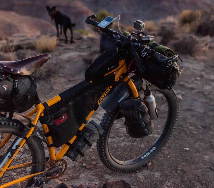 bike packing is a great way to reduce waste while traveling