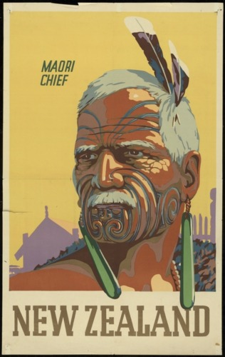Maori Chief - Vintage NZ Tourism Poster