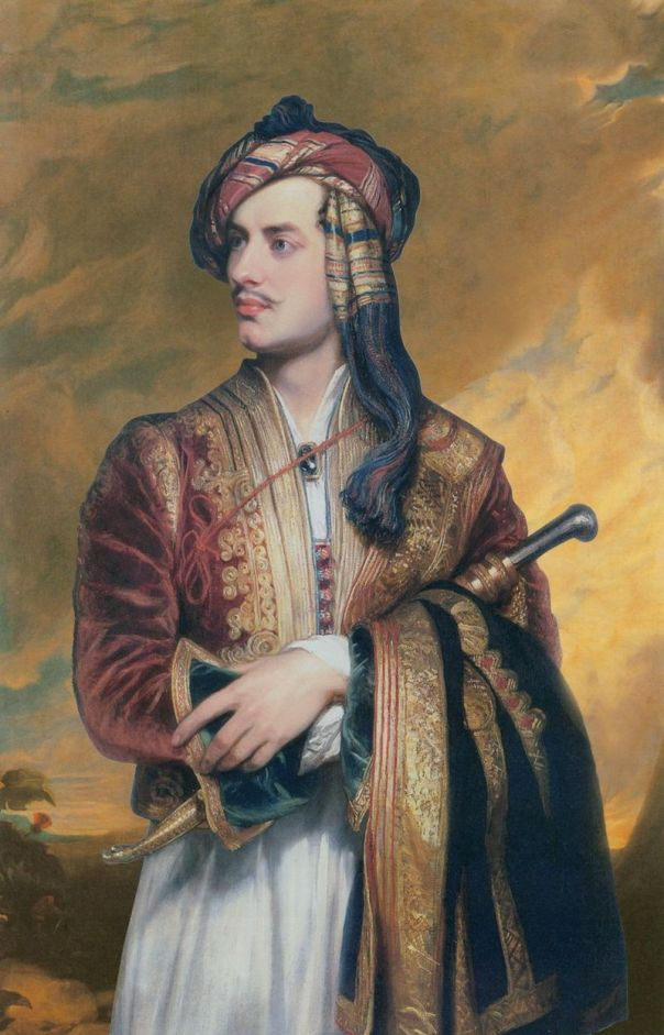 Lord Byron in Albanian dress, by Thomas Phillips, 1813