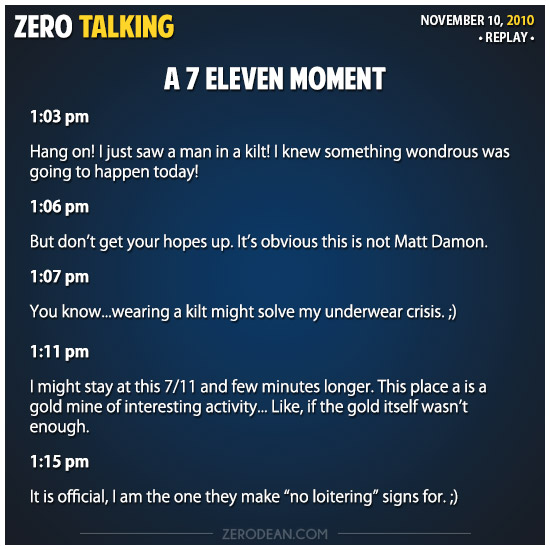 A Seven Eleven moment