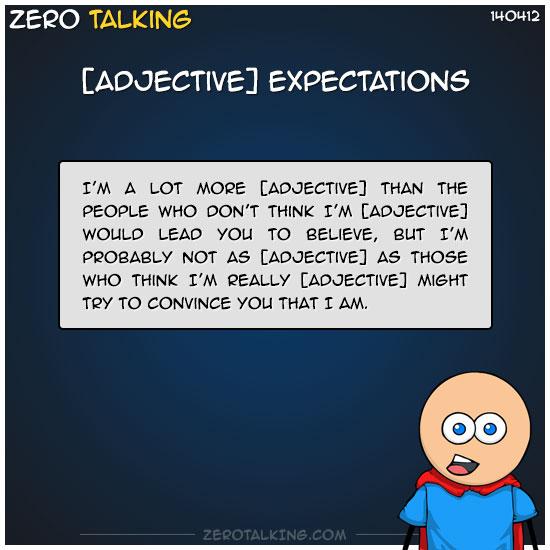 adjective-expectations-zero-dean