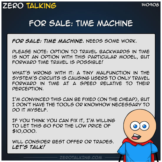 for-sale-time-machine-zero-dean