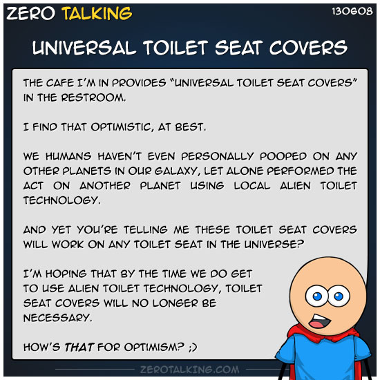 Universal Toilet Seat Covers Zero Talking