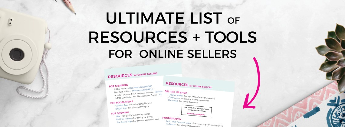 Ultimate List of Resources for Etsy Sellers