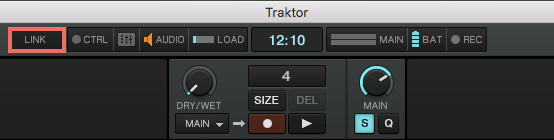 Ableton Link button in Traktor