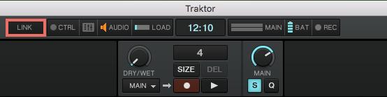 Ableton Link button in Traktor