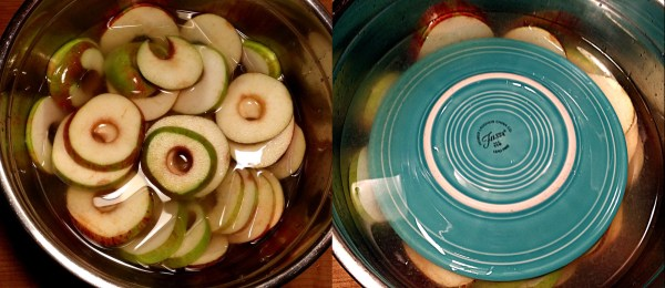 submerge apples