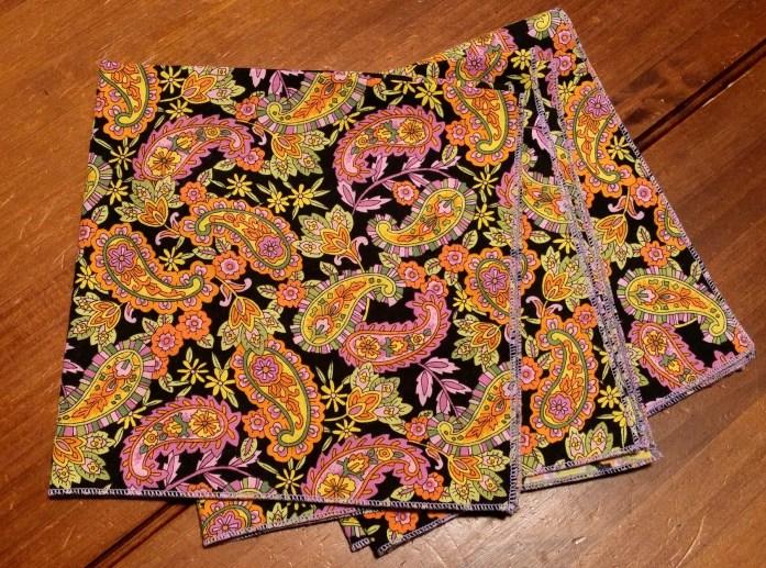 cloth napkin with serged edge