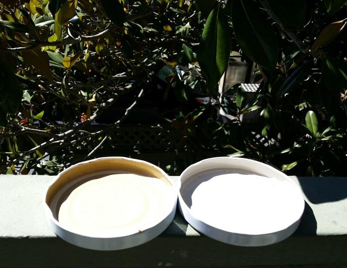 lids baking in the sun