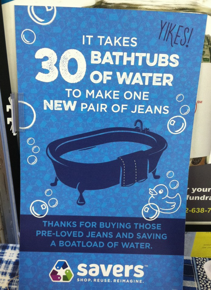 amount of water to make jeans