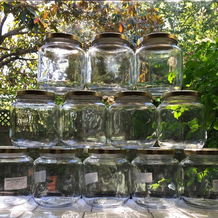 large glass jars