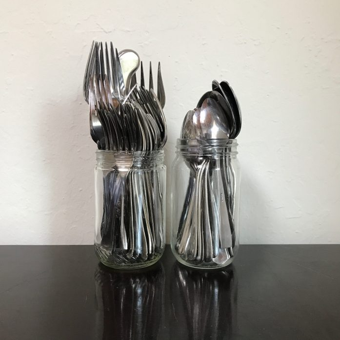 jars of utensils