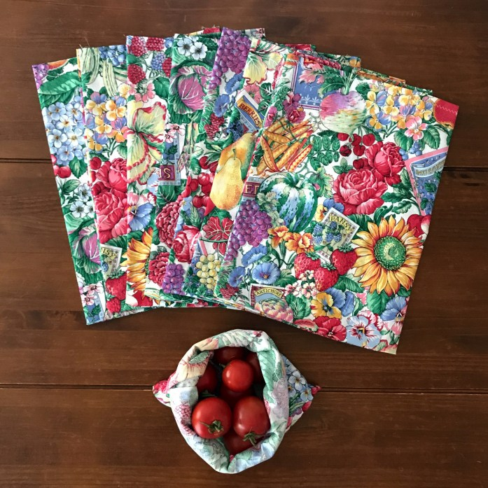 cloth produce bags for plastic free and zero waste shopping