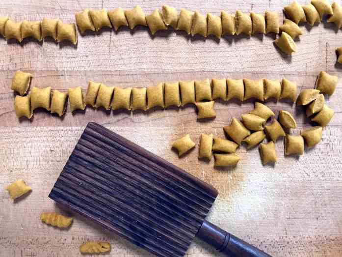 hand shaped homemade pasta