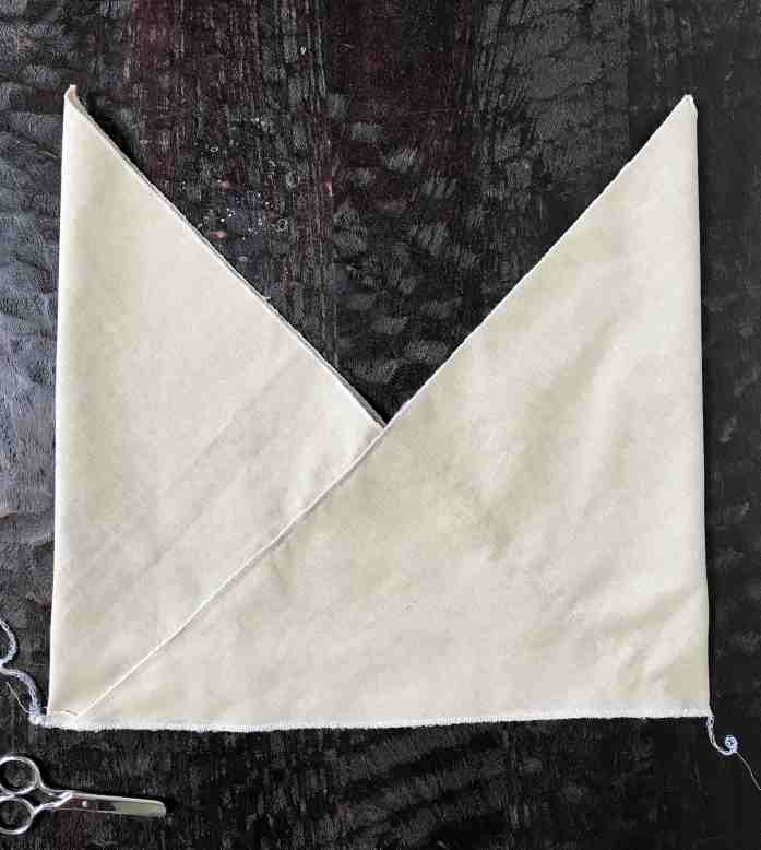 sewing the bottom of a bento bag