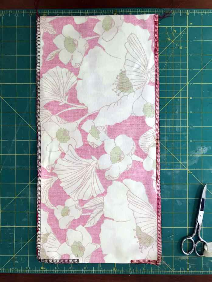 sewing a cloth utensil roll for reusable plastic-free utensils