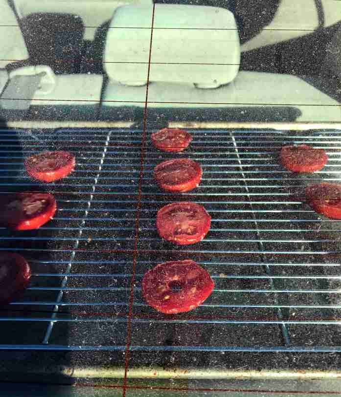 using the car on a hot day as a solar dehydrator