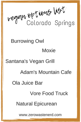 vegan restaurants in colorado springs