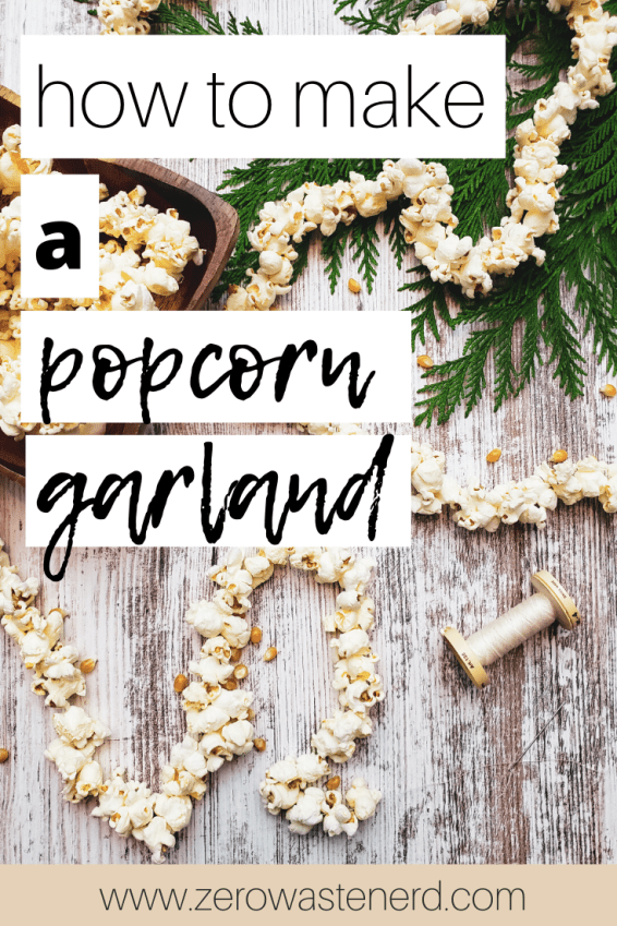 how to make a popcorn garland Pinterest