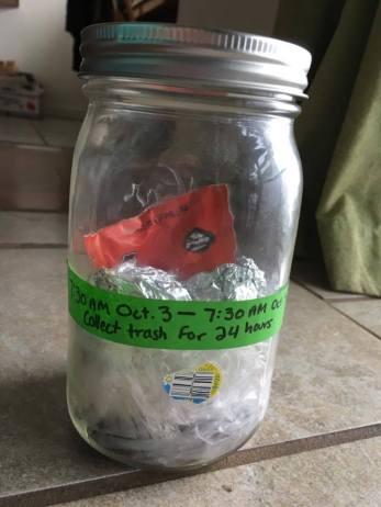 Dry trash items