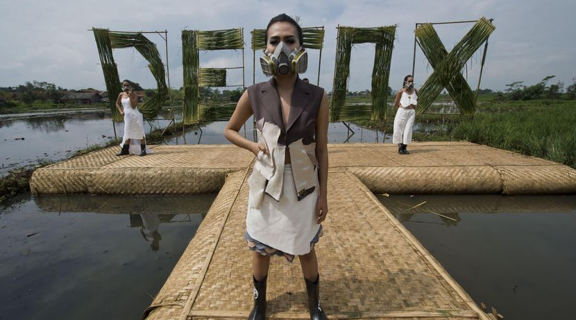 The fashion industry causes air and water pollution
