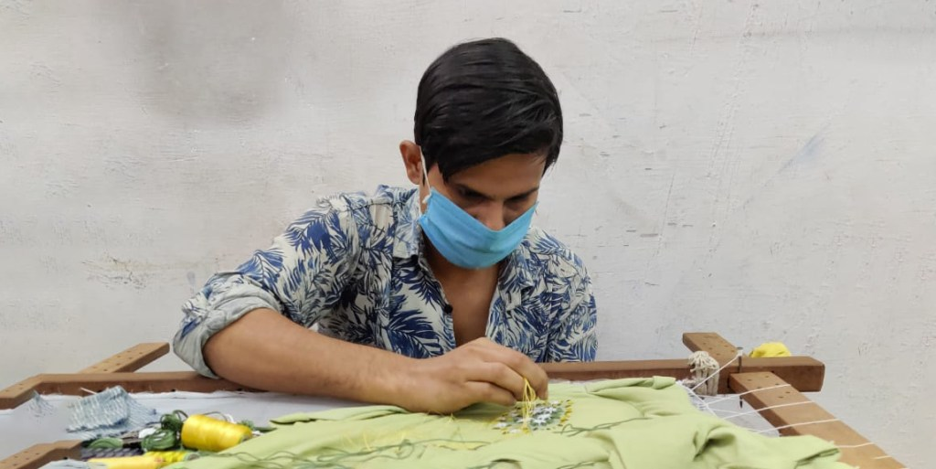 Sui sustainable fashion made by artisans in India