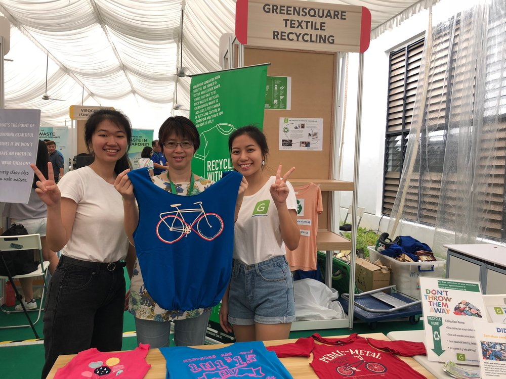 greensquare recycle old clothes textiles singapore