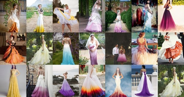 colorful wedding dress ideas for fall