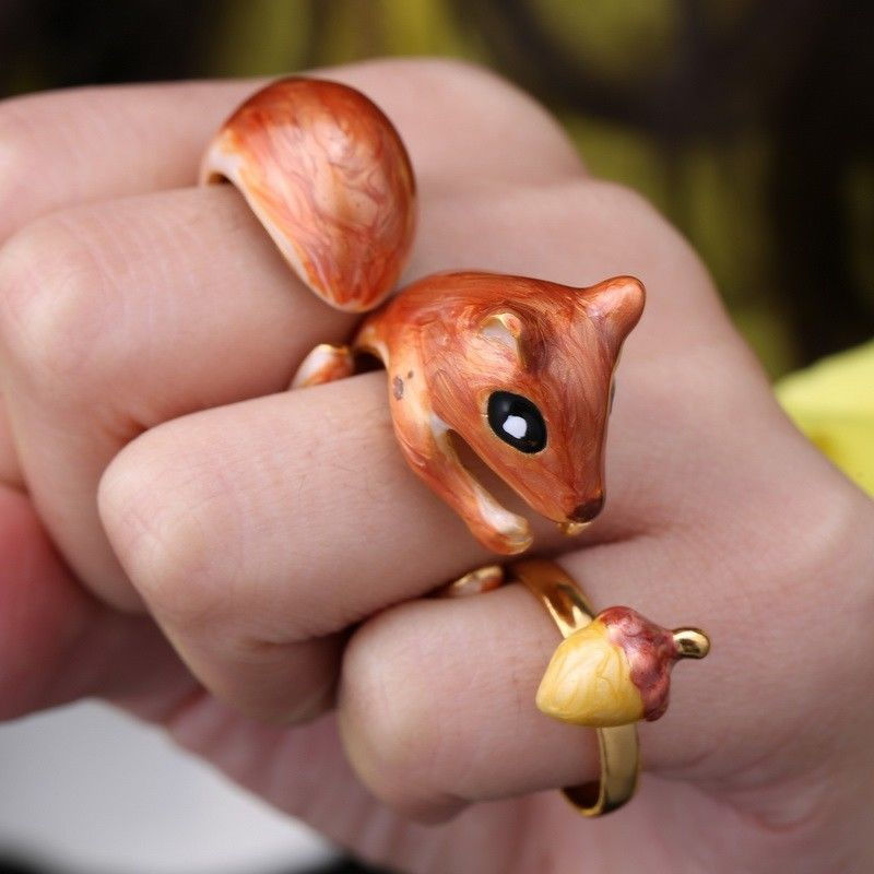 3 Piece Adjustable Squirrel Ring