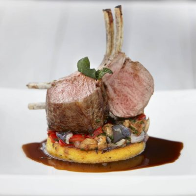 Lamb Rack with Polenta