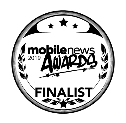 Mobile News Awards 2019 Finalist Badge
