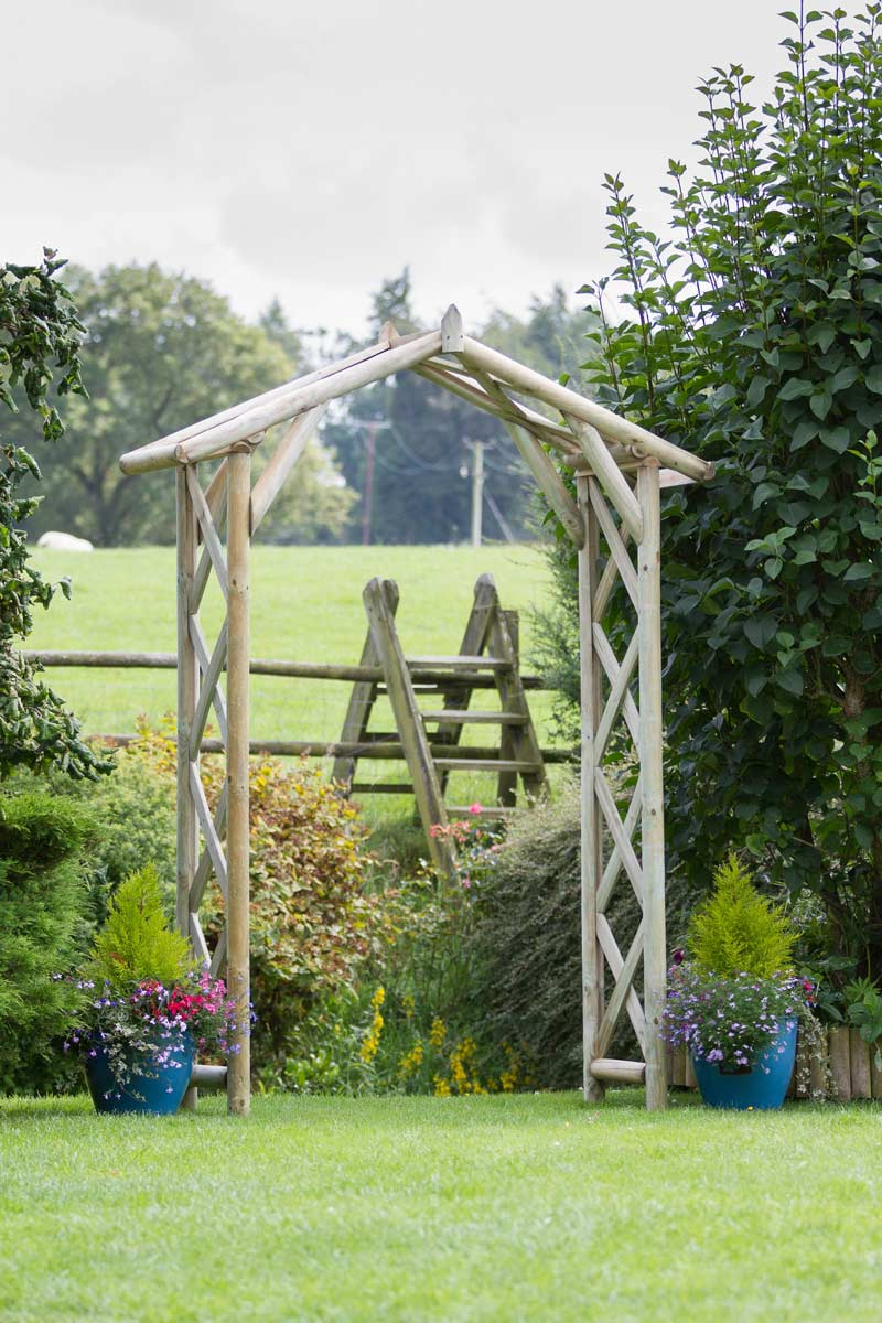 Rustic Arch Outdoor Garden Arch Zest 4 Leisure Direct