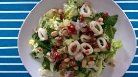 Thai-style squid and peanut salad