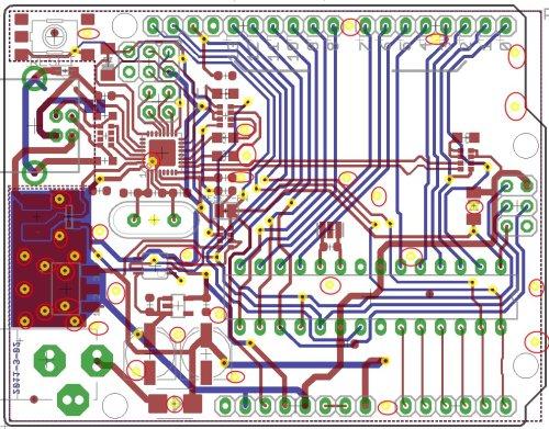 Exemple de typon - carte Arduino