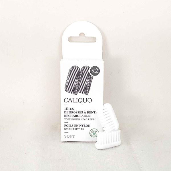 Lot de 2 recharges pour brosse à dents rechargeable Caliquo